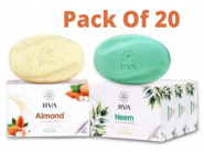 Almond Scrub Soap + Neem Soap [ Pack Of 20 ] At Rs. 17 Each + Free Shipping!