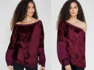 Off Season Discount - Burgundy Velvet Sweater At Rs. 124 [ Pay Shipping Extra ]