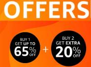 LIVE NOW - Buy 1 Get Up To 65% Off, Buy 2 Get Extra 20% Off + Free Shipping !!