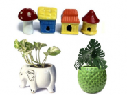 Ceramic Planter Pots, Garden Accessories Starts At Rs. 199 + Free Shipping With Coupon