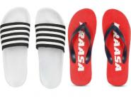 Top Brands Slippers & Flip Flops Starts At Rs. 90 + 2% FKM Cashback