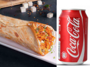 Dhamaka Combo : Paneer Tikka Wrap + Coke 330ml At Just Rs.76 !!