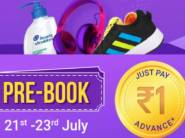 Pre-Book Sale Is Live Now - Pay Rs. 1 Get Guaranteed Stock At Sale Price