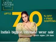 Lingerie Fest - Up to 70% off Sitewide + Rs. 300 FKM CB + Free Shipping