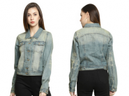 Blue Denim Jacket At Just Rs. 299 + Free Shipping [ Valid 3 Times ]