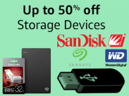 Extra Rs.75 Cashback:- Upto 50% off on Storage Devices From Top Brands