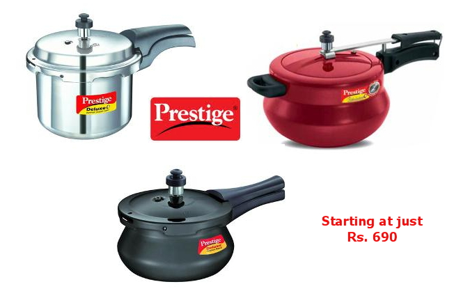 prestige cooker price list