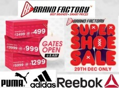 Brand Factory SUPER SHOE SALE Offer