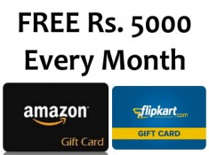 Free Amazon, Flipkart Vouchers + Real Cash Up To Rs. 5000 !!