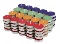 Amazon Brand - Solimo Colored Wax Tealight (Set of 100) at Rs. 249