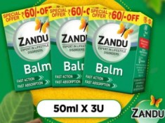 Best Selling : Zandu Balm 50ml { Pack of 3 } At Just Rs. 79 Each With Shipping Charges !!