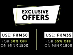 FKM Exclusive Coupon : Flat 30% - 35% Off Innerwears + Extra Rs. 300 FKM Cashback