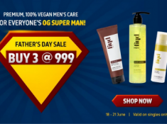 Father's Day Sale - Buy Any 3 @ Rs.999 [ Extra 5% Prepaid off & 15% FKM CB ]