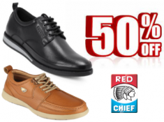 Redchief Leather Footwears at 50% Off + Rs. 300 FKM Cashback !!