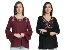 Bell Sleeved & Floral Top At Rs. 234 Each [ Genuine Reviews & Delivered Proof ]