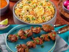 Lunch Special : Chicken Tikka + Veg Nizami Biryani At Rs.30 Each