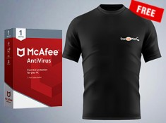 Never Before Offer : Free Exclusive FKM T-shirts With Free Mcafee Antivirus