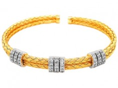 Festival Special - Yellow Plated Silver Bracelet At Just Rs. 5400