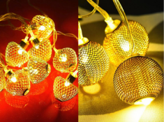 Festive Sale : Metal String Lights (Pack Of 2) At Rs.150 Each !!
