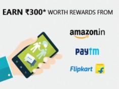Earn FREE Rs. 300 Shopping Vouchers [ Amazon, Flipkart, Paytm ]