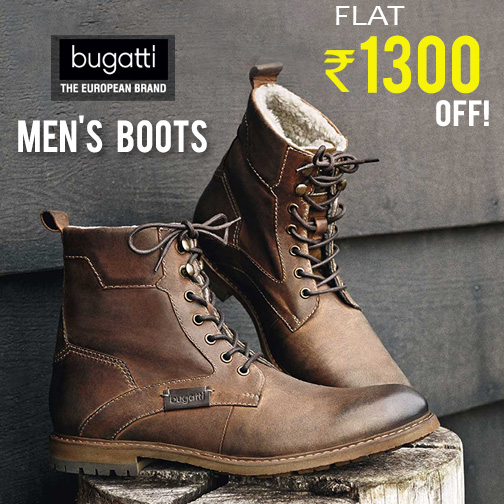 08e7d48635a Men's Bugatti Leather Shoes at Flat Rs.1300 OFF at FreeKaaMaal.com