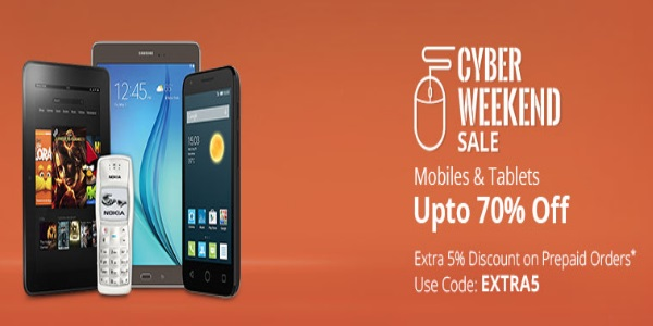 Cyber Weekend Sale - Upto 75% Off On Electronics + 5% Off discount offer  image 2
