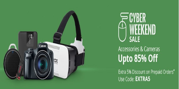 Cyber Weekend Sale - Upto 75% Off On Electronics + 5% Off discount offer  image 3