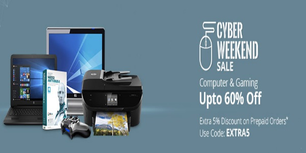 Cyber Weekend Sale - Upto 75% Off On Electronics + 5% Off discount offer  image 4