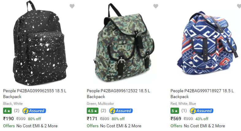 99fd915dba0 Bumper Price:- People Backpack at FLAT 80% Off + Free Shipping + ...