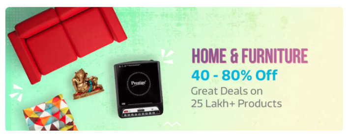 Home and Furniture sale on flipkart