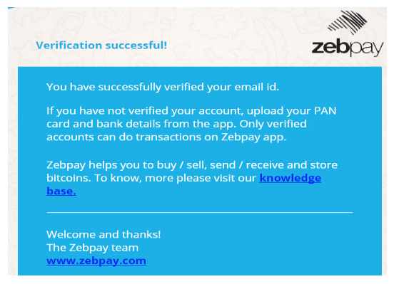 zebpay account verification