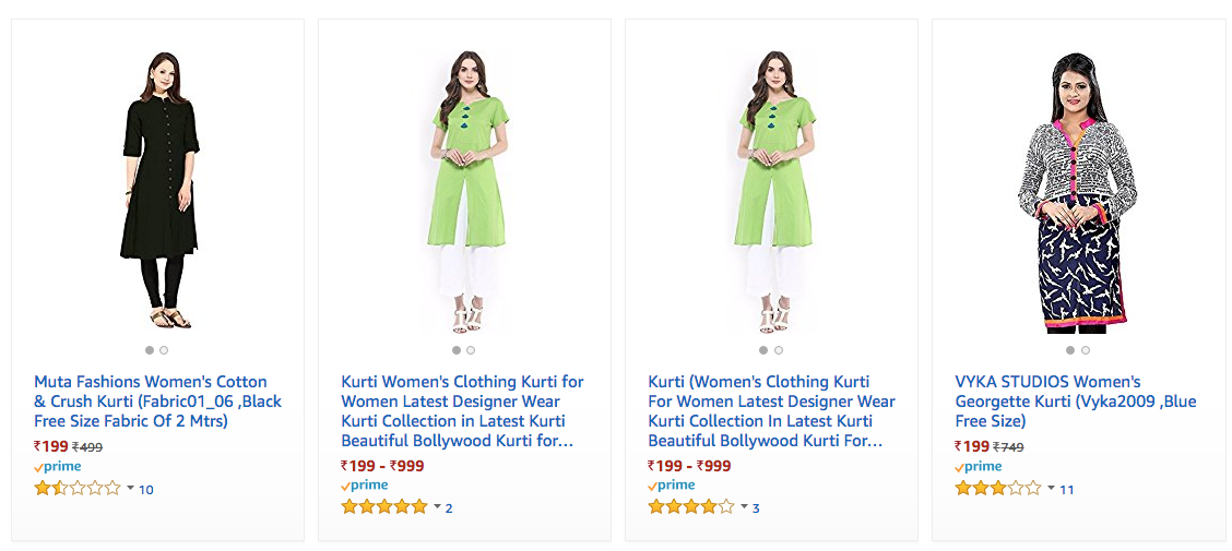 kurtis offer on amazon