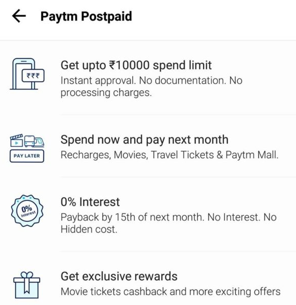Paytm Postpaid - Get Up to Rs  10,000 Instant Credit In your