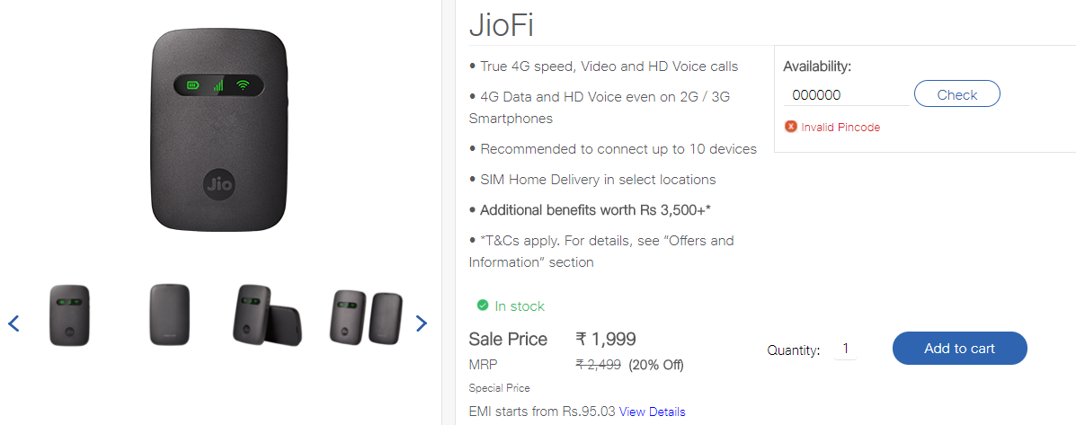 JioFi 4 Router- Features, Plans, Price And Offers In India