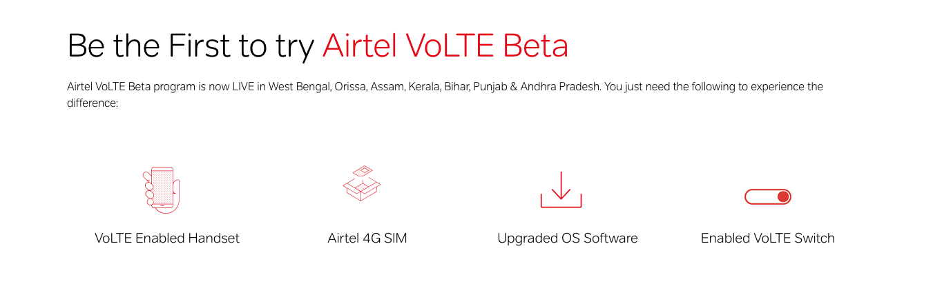 Airtel volte service - how to activate