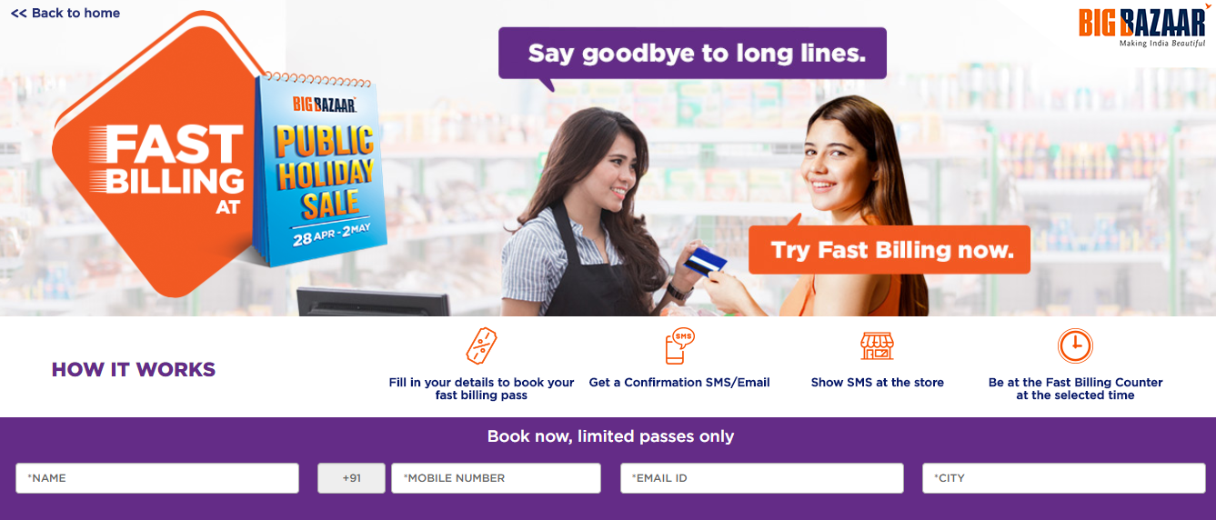 Fast Billing At Big Bazaar Sale