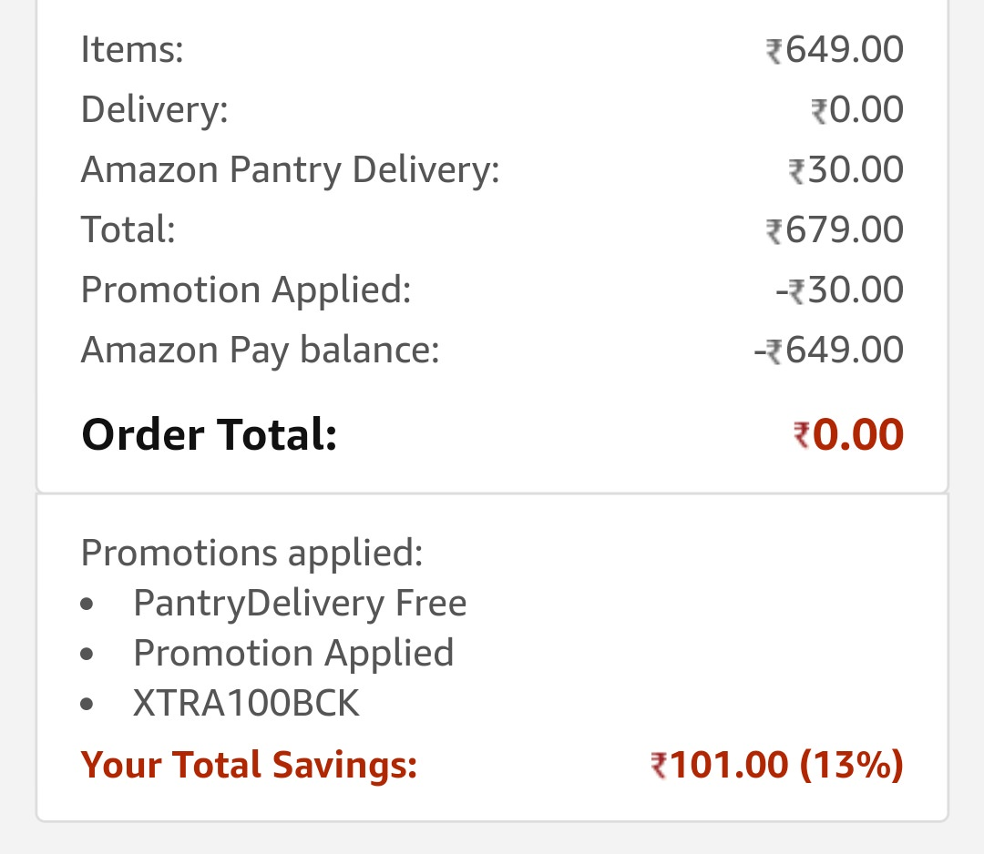 Top Products to Choose at Extra Rs. 100 off + Rs. 50 Cashback On Pantry low price image 1