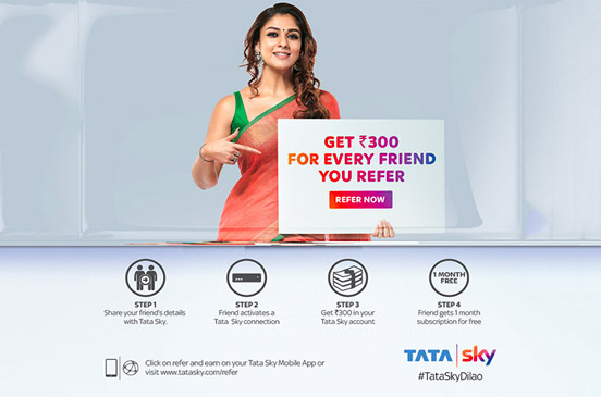 Tata Sky Referral Program: Earn Up to Rs 900 [Tata sky Refer and