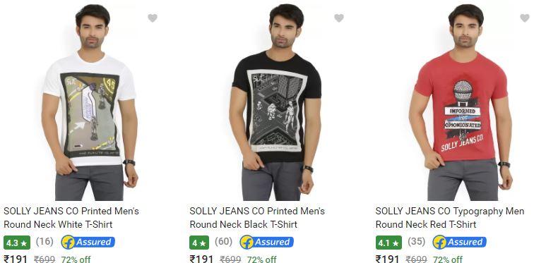 f86d13e051 SOLLY JEANS CO Men s T shirts at Flat 72% OFF at FreeKaaMaal.com