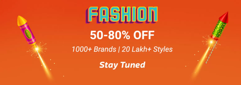 4991c0320689 Flipkart Diwali Sale on Fashion - Get Discounts of 80% OFF on Products