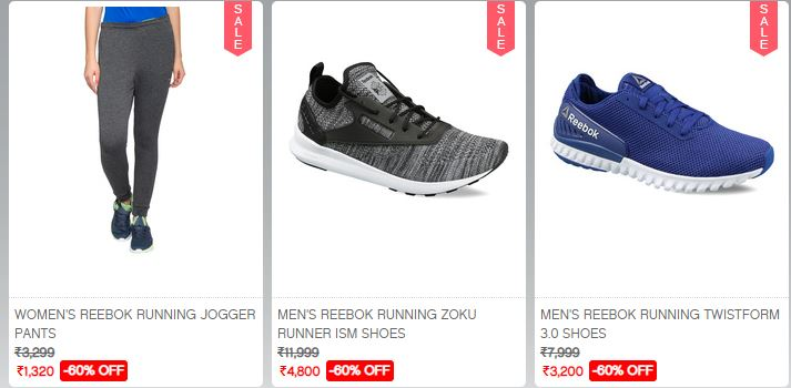 eb7c3232fd1 Coupon Till Midnight  Flat 50%-80% Off on Reebok + Extra 15% Off at ...
