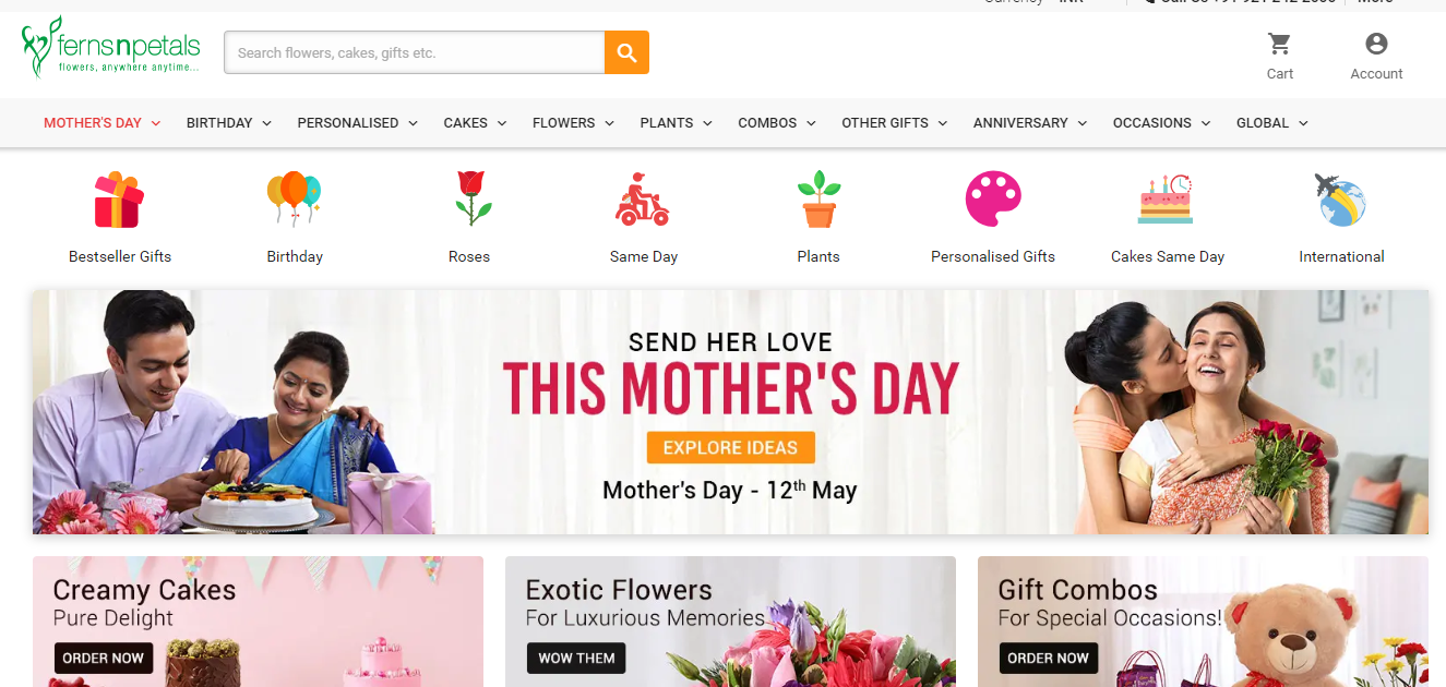Top 10 Websites To Shop Online For Mothers Day Gifts