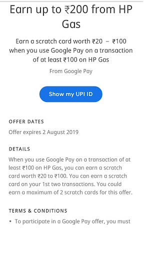 Earn Up To Rs 200 On HP Gas Booking Using Google Pay