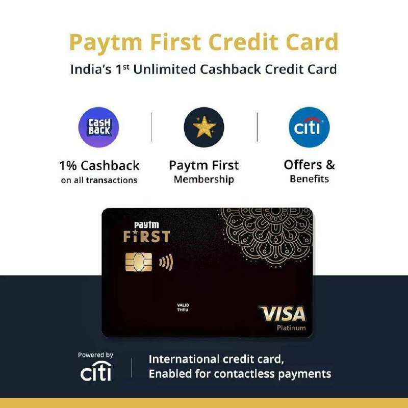 Apply For Paytm First Credit Card & Get Exclusive Benefits