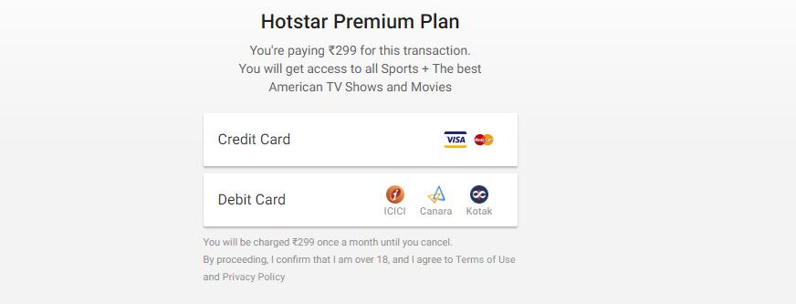 Get FREE 1 Month Trial Hotstar Premium Membership at
