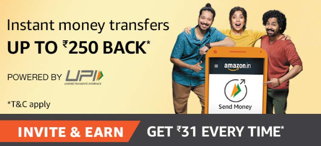 Amazon UPI Refer Earn Offer