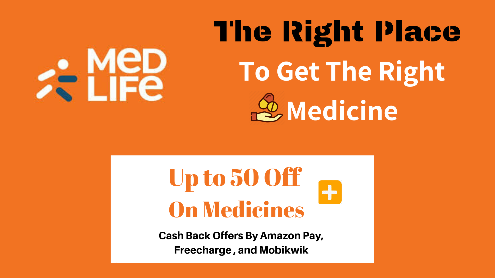 Medlife Wallet Offers - Flat 30% Off + Cashback via Amazon