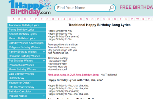Birthday Songs With Name Top Sites To Download Audio Video Songs In Hindi English