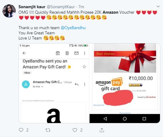 Amazon Happy tweet
