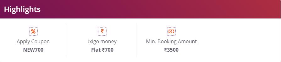 Ixigo New User offer - Flat Rs  1000 Cashback on Flight Bookings